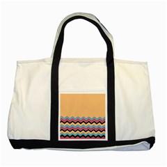 Chevrons Patterns Colorful Stripes Two Tone Tote Bag by BangZart