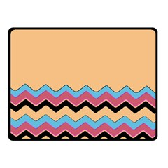 Chevrons Patterns Colorful Stripes Fleece Blanket (small) by BangZart