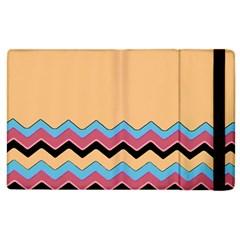 Chevrons Patterns Colorful Stripes Apple Ipad 2 Flip Case by BangZart