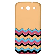 Chevrons Patterns Colorful Stripes Samsung Galaxy S3 S Iii Classic Hardshell Back Case by BangZart