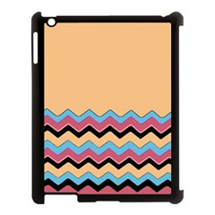 Chevrons Patterns Colorful Stripes Apple Ipad 3/4 Case (black) by BangZart