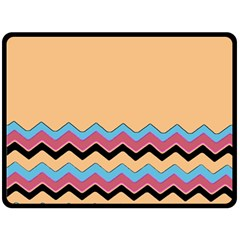 Chevrons Patterns Colorful Stripes Double Sided Fleece Blanket (large)  by BangZart