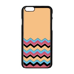 Chevrons Patterns Colorful Stripes Apple Iphone 6/6s Black Enamel Case by BangZart