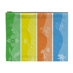 Floral Colorful Seasonal Banners Cosmetic Bag (xl) by BangZart