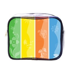 Floral Colorful Seasonal Banners Mini Toiletries Bags by BangZart