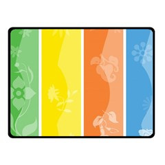 Floral Colorful Seasonal Banners Fleece Blanket (small) by BangZart
