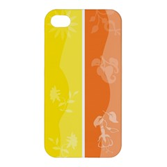 Floral Colorful Seasonal Banners Apple Iphone 4/4s Hardshell Case by BangZart