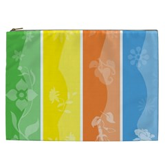 Floral Colorful Seasonal Banners Cosmetic Bag (xxl)  by BangZart