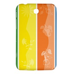 Floral Colorful Seasonal Banners Samsung Galaxy Tab 3 (7 ) P3200 Hardshell Case  by BangZart