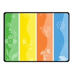 Floral Colorful Seasonal Banners Double Sided Fleece Blanket (small)  by BangZart