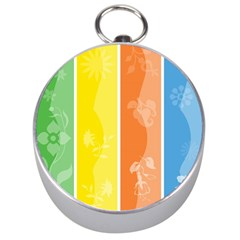 Floral Colorful Seasonal Banners Silver Compasses by BangZart
