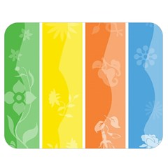 Floral Colorful Seasonal Banners Double Sided Flano Blanket (medium)  by BangZart