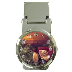 Tropical Style Collage Design Poster Money Clip Watches by dflcprints