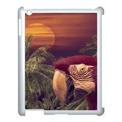 Tropical Style Collage Design Poster Apple Ipad 3/4 Case (white) by dflcprints