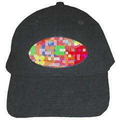 Abstract Polka Dot Pattern Black Cap by BangZart