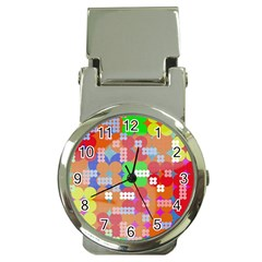 Abstract Polka Dot Pattern Money Clip Watches by BangZart