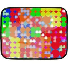Abstract Polka Dot Pattern Double Sided Fleece Blanket (mini)  by BangZart