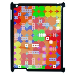 Abstract Polka Dot Pattern Apple Ipad 2 Case (black) by BangZart