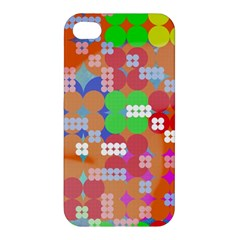 Abstract Polka Dot Pattern Apple Iphone 4/4s Hardshell Case by BangZart