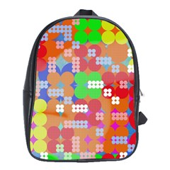 Abstract Polka Dot Pattern School Bags (xl)  by BangZart