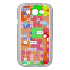 Abstract Polka Dot Pattern Samsung Galaxy Grand Duos I9082 Case (white) by BangZart