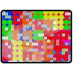 Abstract Polka Dot Pattern Double Sided Fleece Blanket (large)  by BangZart