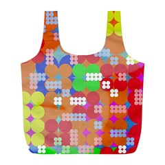 Abstract Polka Dot Pattern Full Print Recycle Bags (l)  by BangZart