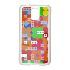 Abstract Polka Dot Pattern Samsung Galaxy S5 Case (white) by BangZart