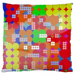 Abstract Polka Dot Pattern Standard Flano Cushion Case (one Side) by BangZart
