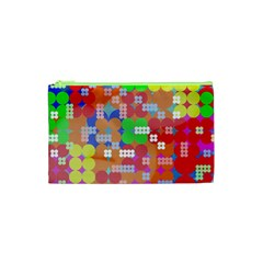 Abstract Polka Dot Pattern Cosmetic Bag (xs) by BangZart