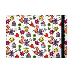 Cute Doodle Wallpaper Pattern Apple Ipad Mini Flip Case by BangZart