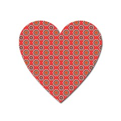 Floral Seamless Pattern Vector Heart Magnet by BangZart