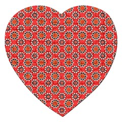 Floral Seamless Pattern Vector Jigsaw Puzzle (heart) by BangZart