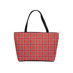 Floral Seamless Pattern Vector Shoulder Handbags by BangZart