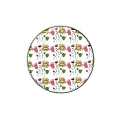 Handmade Pattern With Crazy Flowers Hat Clip Ball Marker (4 Pack) by BangZart