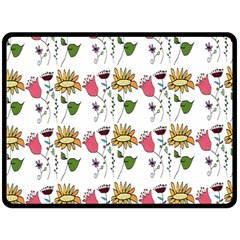 Handmade Pattern With Crazy Flowers Fleece Blanket (large)  by BangZart