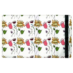 Handmade Pattern With Crazy Flowers Apple Ipad 2 Flip Case by BangZart