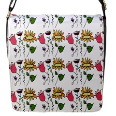 Handmade Pattern With Crazy Flowers Flap Messenger Bag (s) by BangZart