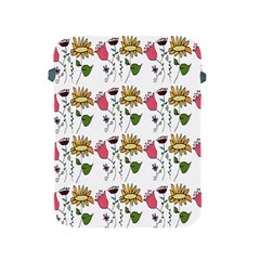 Handmade Pattern With Crazy Flowers Apple Ipad 2/3/4 Protective Soft Cases by BangZart