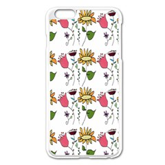 Handmade Pattern With Crazy Flowers Apple Iphone 6 Plus/6s Plus Enamel White Case by BangZart