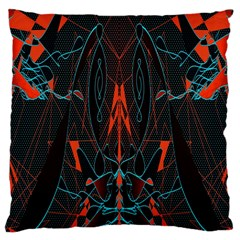 Doodle Art Pattern Background Large Cushion Case (two Sides) by BangZart