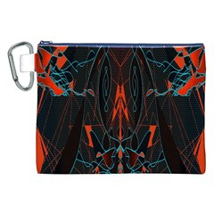 Doodle Art Pattern Background Canvas Cosmetic Bag (xxl) by BangZart