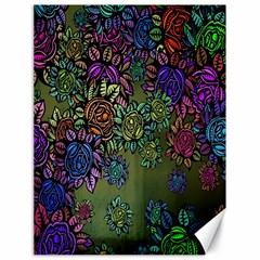 Grunge Rose Background Pattern Canvas 18  X 24   by BangZart