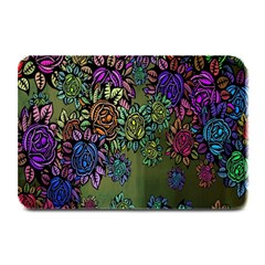Grunge Rose Background Pattern Plate Mats by BangZart