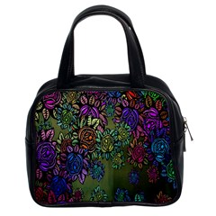 Grunge Rose Background Pattern Classic Handbags (2 Sides) by BangZart