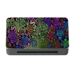 Grunge Rose Background Pattern Memory Card Reader With Cf by BangZart