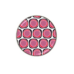 Wheel Stones Pink Pattern Abstract Background Hat Clip Ball Marker (4 Pack) by BangZart
