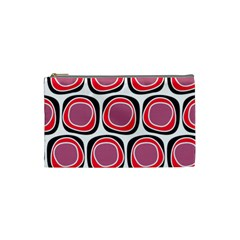 Wheel Stones Pink Pattern Abstract Background Cosmetic Bag (small)  by BangZart