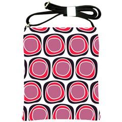 Wheel Stones Pink Pattern Abstract Background Shoulder Sling Bags by BangZart