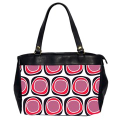 Wheel Stones Pink Pattern Abstract Background Office Handbags (2 Sides)  by BangZart